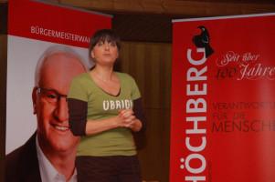 Fisch und Kabarett mit Rena Schwarz Bgm. Wahlkampf 2012