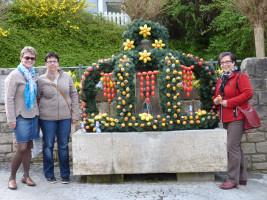 Osterbrunnen 2014 an der Weth